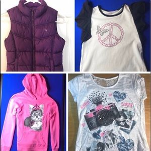Justice, old navy girls 10 tops and vest